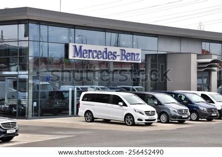 PRAGUE, CZECH REP., FEBRUARY 22, 2015: Mercedes-Benz Store