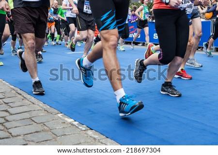 Prague, Czech  Republic - April 4, 2014, Half Marathon Praha - stock photo