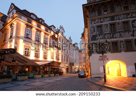 Prague, Czech Republic - July 30 2014: Old town in Prague, Czech Republic.