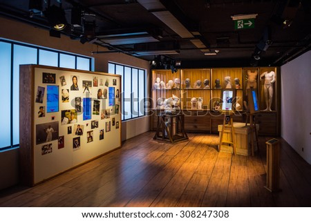PRAGUE, CZECH REPUBLIC - JUNE 29, 2015: Grevin museum. Grevin is the museum of the wax figures in Prague