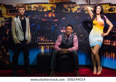 PRAGUE, CZECH REPUBLIC - JUNE 29, 2015: Madame Tussaud museum in Prague. Madame Tussaud museum is the museum of the wax figures