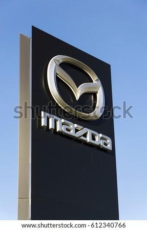 Prague Czech Republic March 31 Mazda Stock Photo 100 Legal