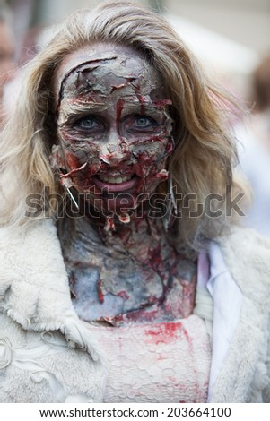 Prague, Czech Republic - May 24 - Zombies at the 2014 Prague Zombie Walk - 2013/05/24ague, Czech Republic - May 24 - Zombies at the 2014 Prague Zombie Walk - 2013/05/24 - stock photo