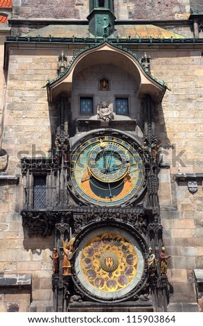 Prague, Czech Republic, Old Town Clock - stock photo