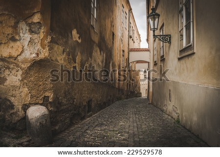 Prague, old town street - stock photo