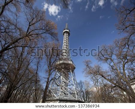 Prague - Petrin Outlook Tower - stock photo