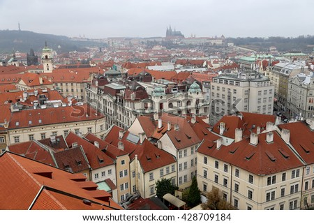 Prague roof tops (Old Town district), Czech Republic