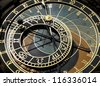 Prague's astronomical clock on Old Town Square - stock photo