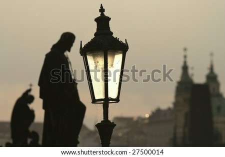 Prague (statues on the Charles bridge)