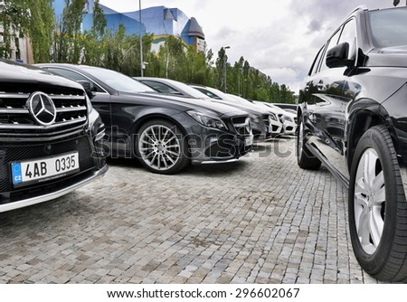 PRAGUE, THE CZECH REP., NOVEMBER 14, 2015: Luxury car Mercedes-Benz
