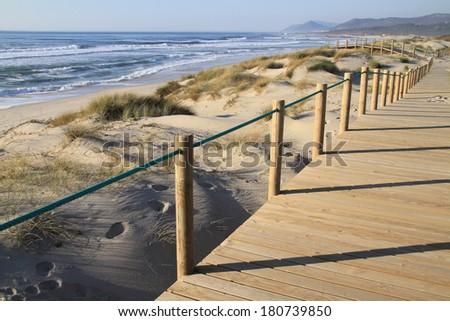Praia da Arda - Arda beach, Viana do Castelo coastline, Portugal - stock photo
