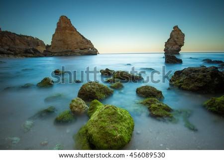 Praia da Marinha, Portugal - stock photo