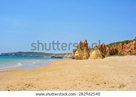 Praia da Rocha in Portimao, Algarve region, Portugal - stock photo