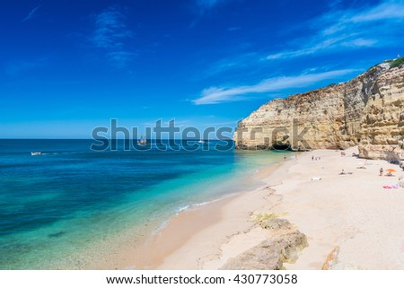 Praia do Vale de Centianes - beautiful beach of Algarve in Portugal