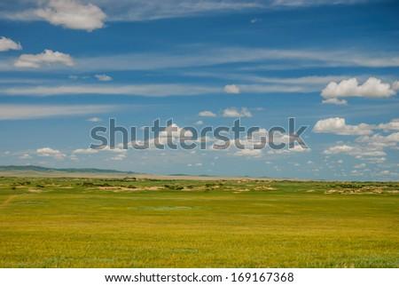 prairie in Inner-Mongolia, China - stock photo
