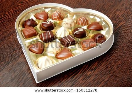 Praline of chocolate on table  - stock photo
