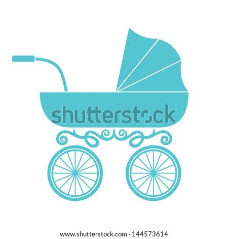 pram - baby carriage - stock photo