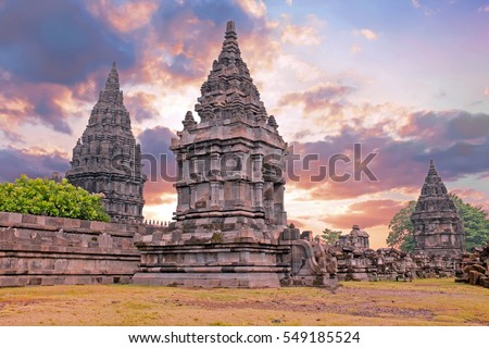 Prambanan or Candi Rara Jonggrang is a Hindu temple compound in Java, Indonesia, dedicated to the Trimurti: the Creator (Brahma), the Preserver (Vishnu) and the Destroyer (Shiva)