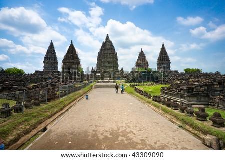 Prambanan Temple, Yogyakarta, Java, Indonesia. - stock photo