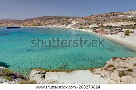 Prassa beach, Kimolos island, Cyclades, Greece - stock photo