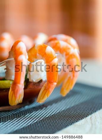 prawn cocktail - stock photo