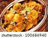 Prawns in masala fry - stock photo