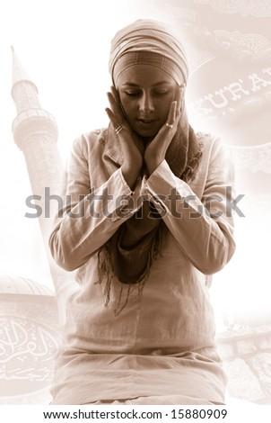 pray - stock photo