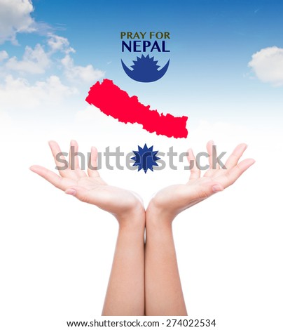 Pray for Nepal. Earthquake Crisis - stock photo