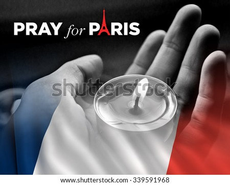 Pray for Paris. 13 November 2015. - stock photo