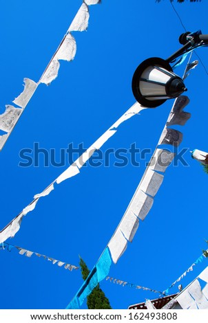 Prayer flags, Kunming, Yunnan - stock photo
