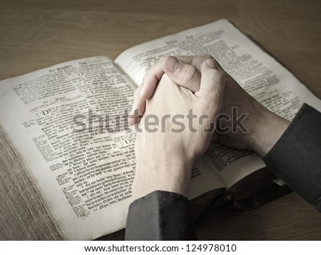 Praying - stock photo