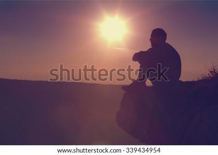 Praying. - stock photo