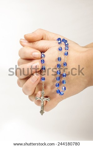 Praying concept young female hands  - stock photo