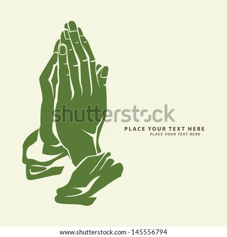 praying hand - stock photo
