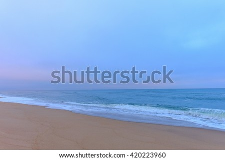 Pre-dawn Light on the shores of the Outer Banks of North Carolina - stock photo