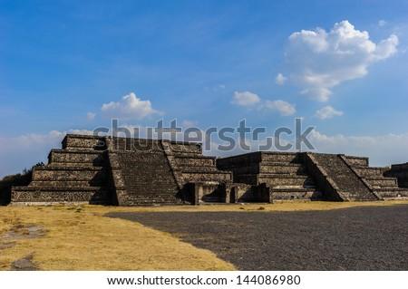 Pre-Hispanic City of Teotihuacan, UNESCO World Heritage Site, Mexico - stock photo