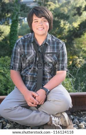 Pre-Teen Boy - stock photo