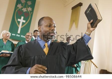 Preacher Preaching the Gospel - stock photo