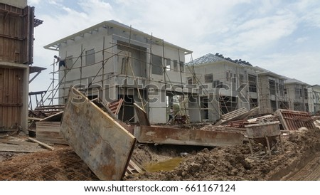 precast home install construction