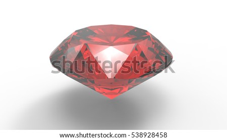 precious stone 3D Illustration on white background