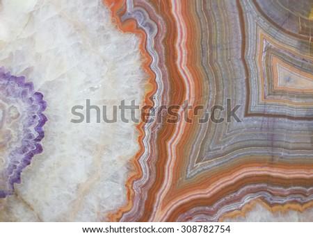 precious stone structure - stock photo