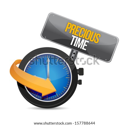precious time time to upgrade watch illustration design over a white background - stock photo