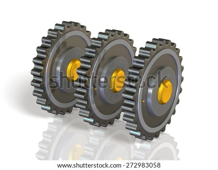 precision machinery,isolated,computer generated image - stock photo