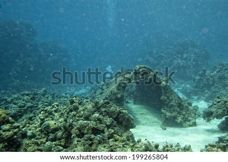 Precontinent Jacques Cousteau underwater house in Sudan Red Sea - stock photo