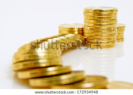 Prediction of financial market for profit. - stock photo