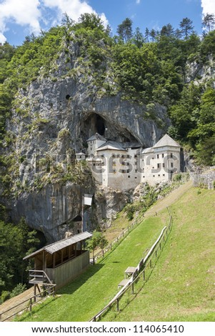 Predjama Castle in rock in Slovenia