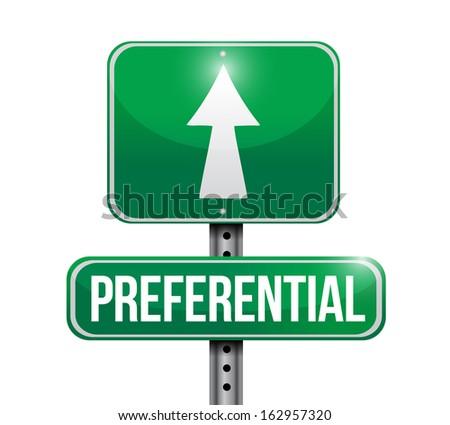 preferential road sign illustration design over a white background - stock photo