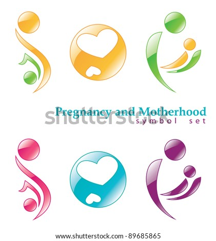 Pregnancy and motherhood. Raster version. - stock photo