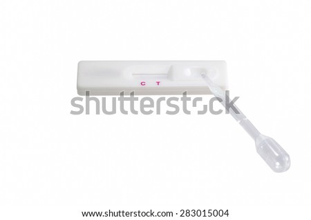 pregnancy test  by urine - stock photo