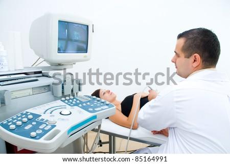 Pregnancy Ultrasound - stock photo